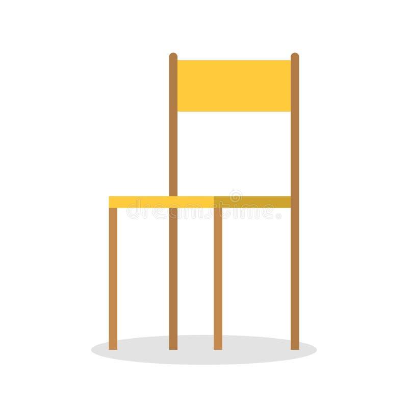 Gele stoel Comfortabel meubilair, modern ontwerp van de stoel royalty-vrije illustratie