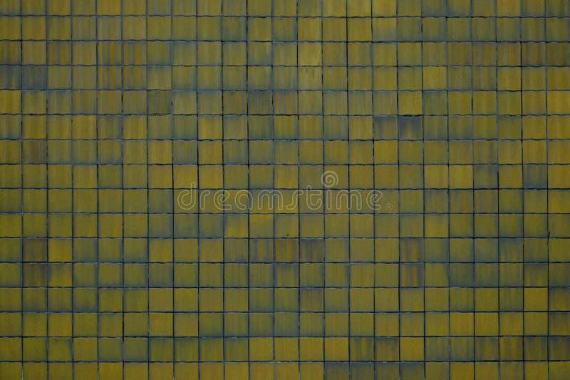 Gele tegelsachtergrond royalty-vrije stock afbeelding