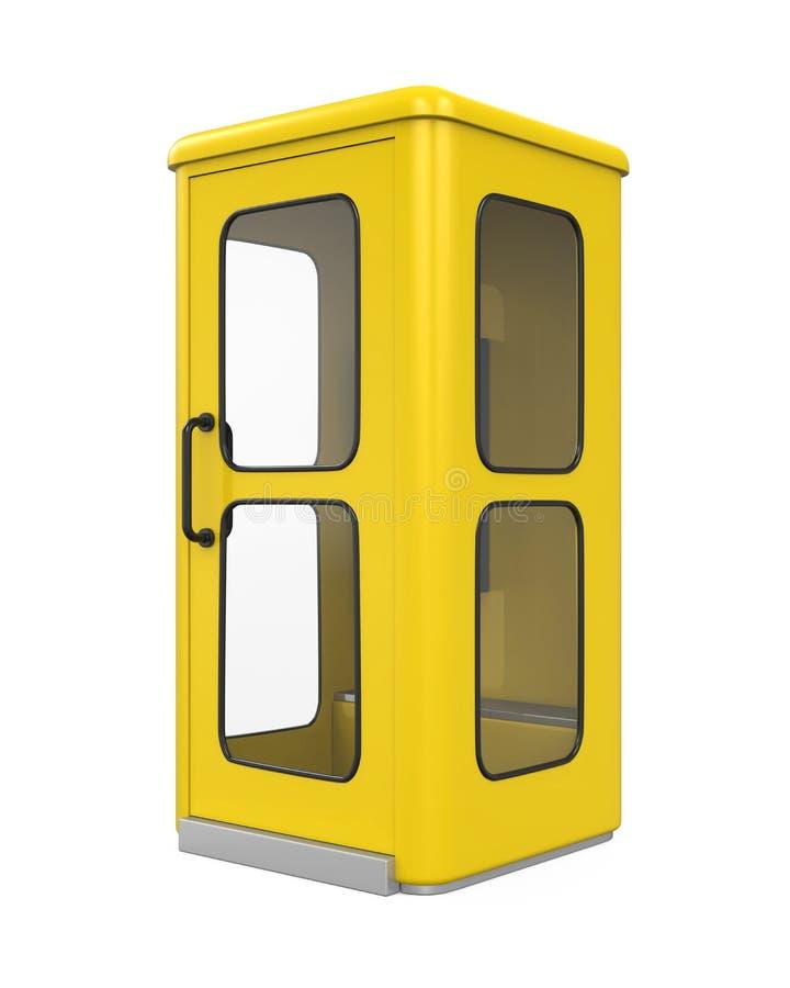 Gele telefooncel stock illustratie