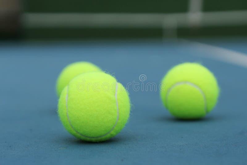 Gele tennisbal stock fotografie