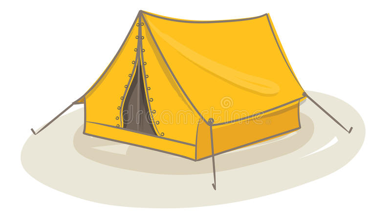 Gele tent stock illustratie