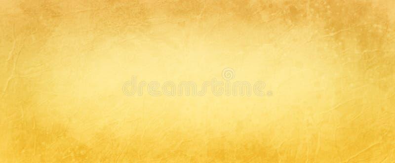 Gele textuur als achtergrond en verontruste bruine grens grunge in uitstekende document illustratie royalty-vrije illustratie