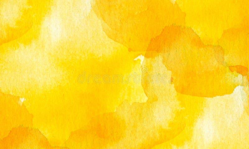 Gele textuur met wit van waterverf vector illustratie