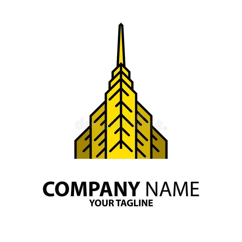 Download Gele Torenlijn Logo Design vector illustratie. Illustratie bestaande uit lijn - 114227545