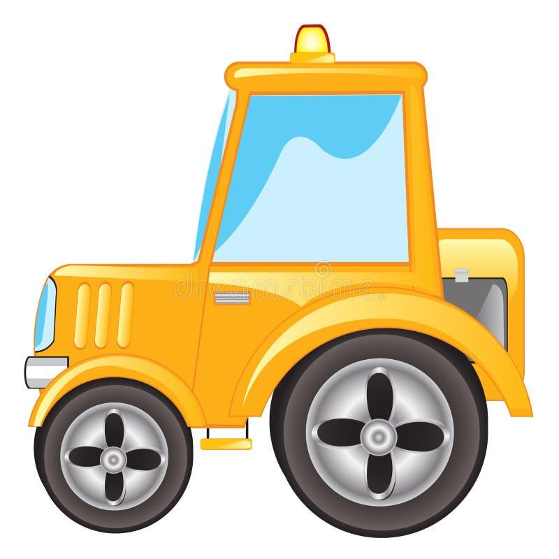 Gele tractor vector illustratie