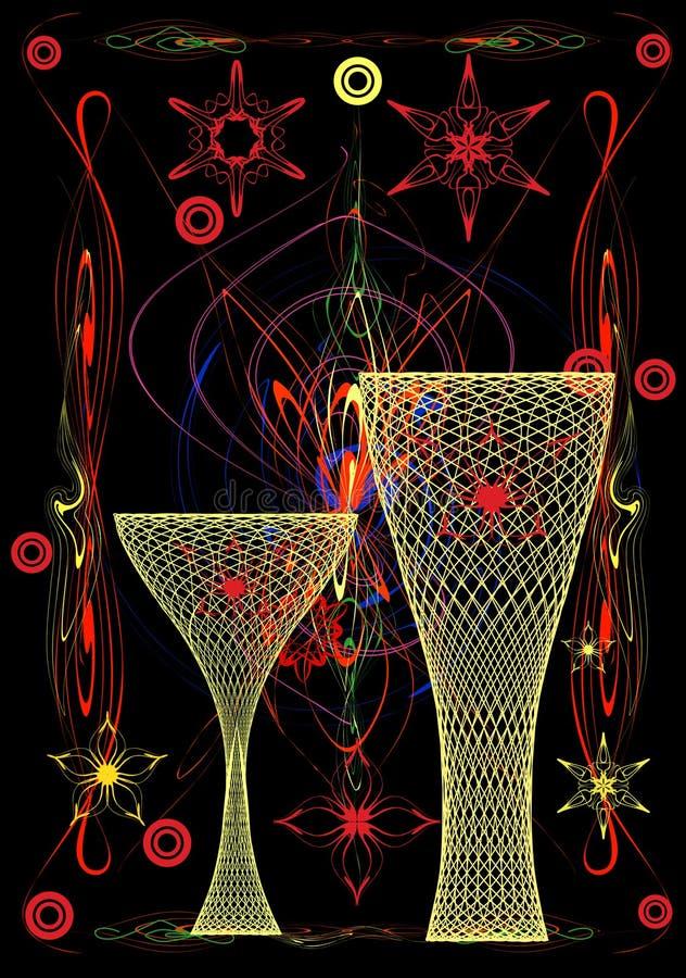 Gele vazen vector illustratie
