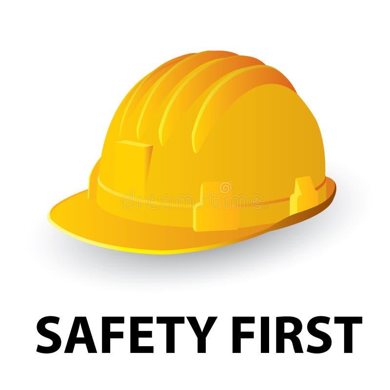 Gele veiligheidsbouwvakker vector illustratie