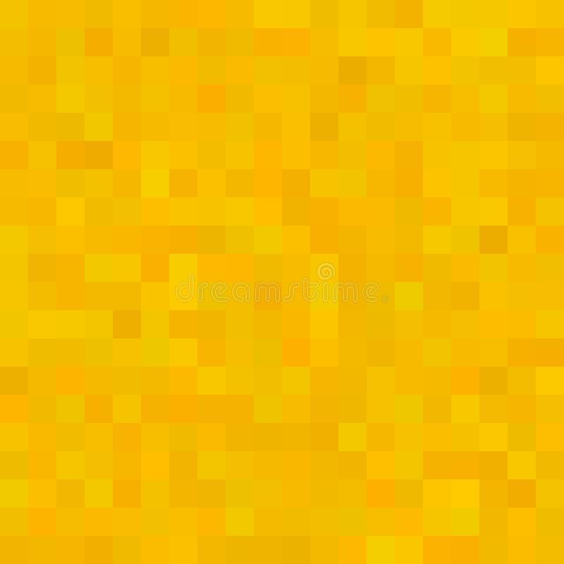 Gele vierkante mozaïekachtergrond Naadloos 3D Pixelmozaïek Uitstekende kleurrijke textuur royalty-vrije illustratie