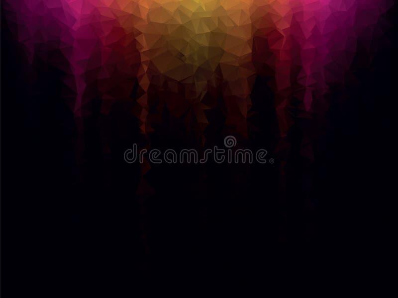 Gele violette geometrische achtergrond vector illustratie