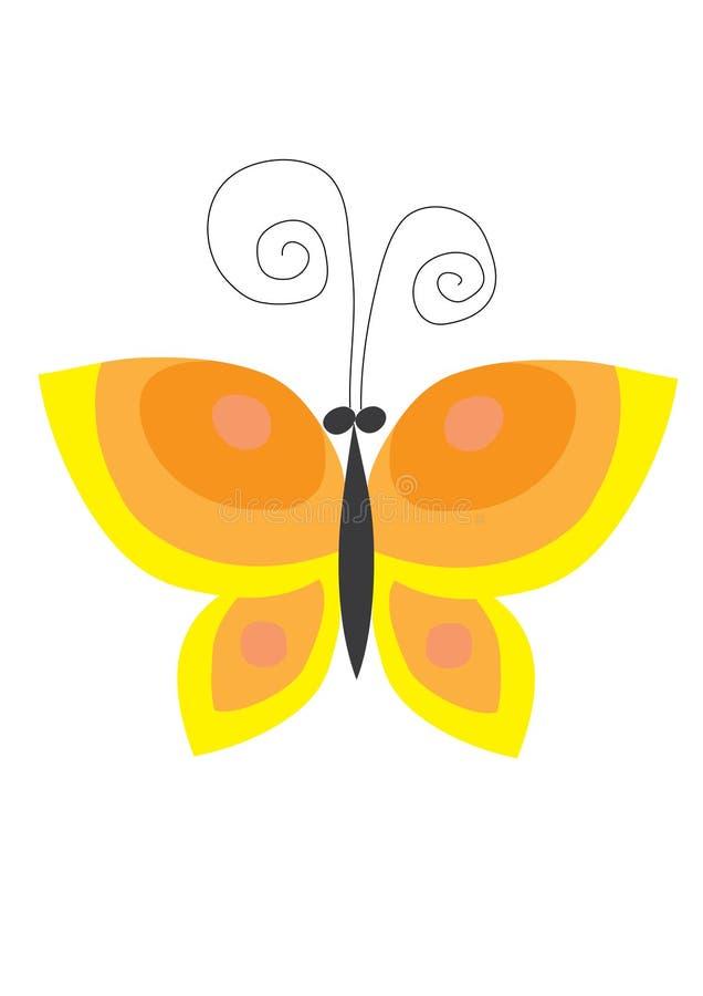 Download Gele vlinder stock illustratie. Illustratie bestaande uit gestileerd - 10780028