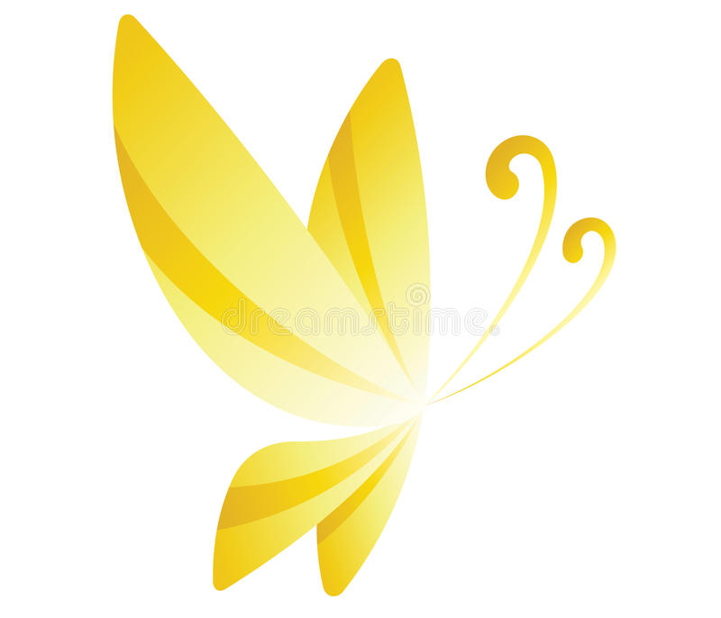 gele Vlinder royalty-vrije illustratie
