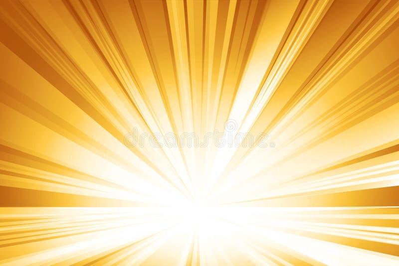 Gele vlotte lichte lijnen abstracte achtergrond Vectorillustrati vector illustratie