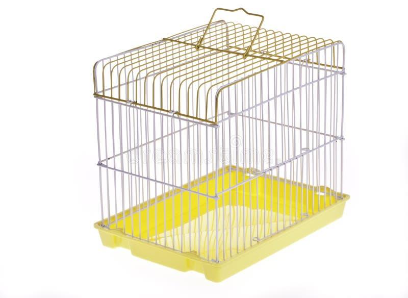 Gele vogelkooi stock afbeeldingen