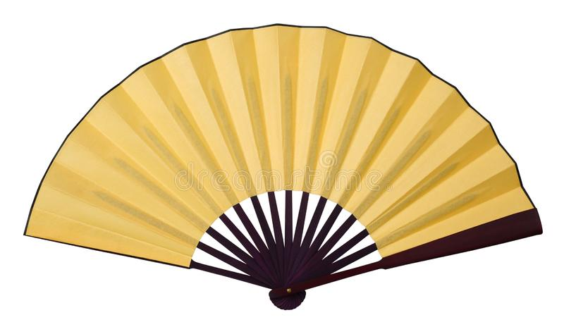 Gele vouwende ventilator royalty-vrije stock foto