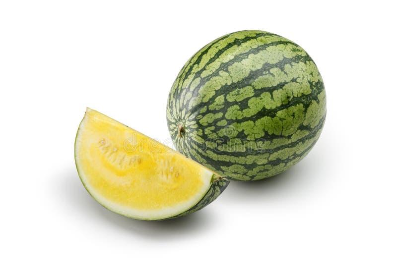 Gele watermeloen 1 stock foto's
