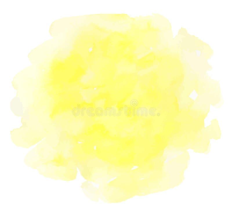 Gele waterverf vectortextuur op een witte achtergrond vector illustratie