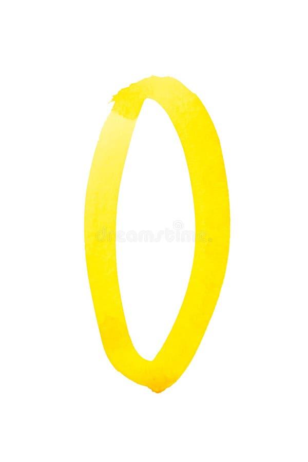 Gele waterverfaantallen royalty-vrije stock afbeelding