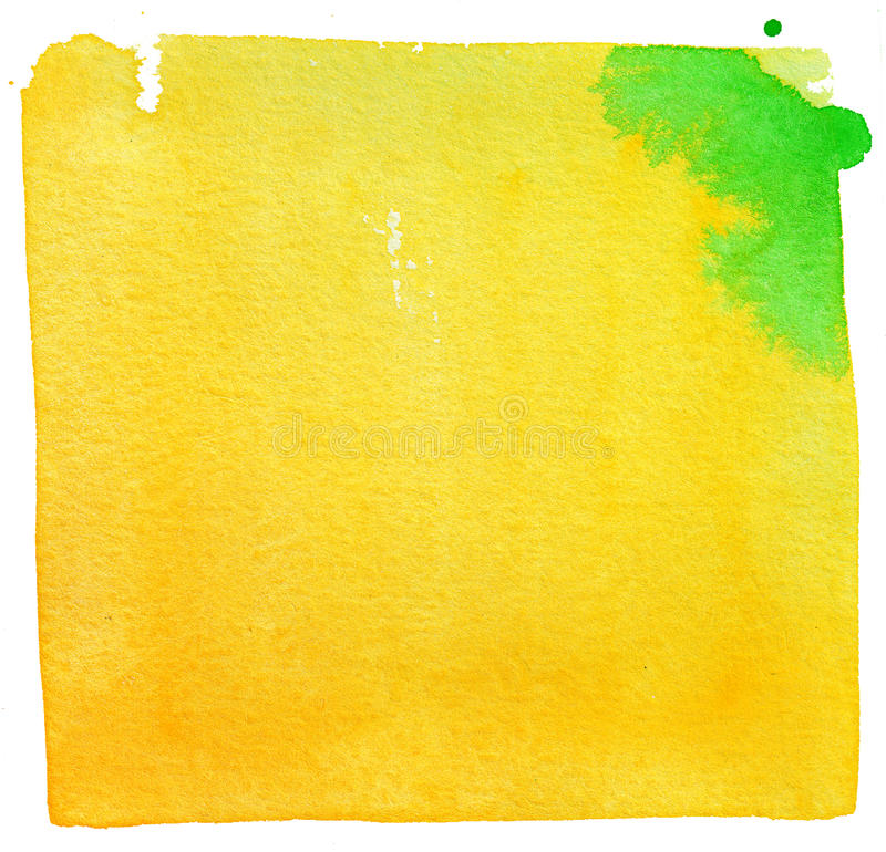 Gele waterverfachtergrond royalty-vrije stock foto