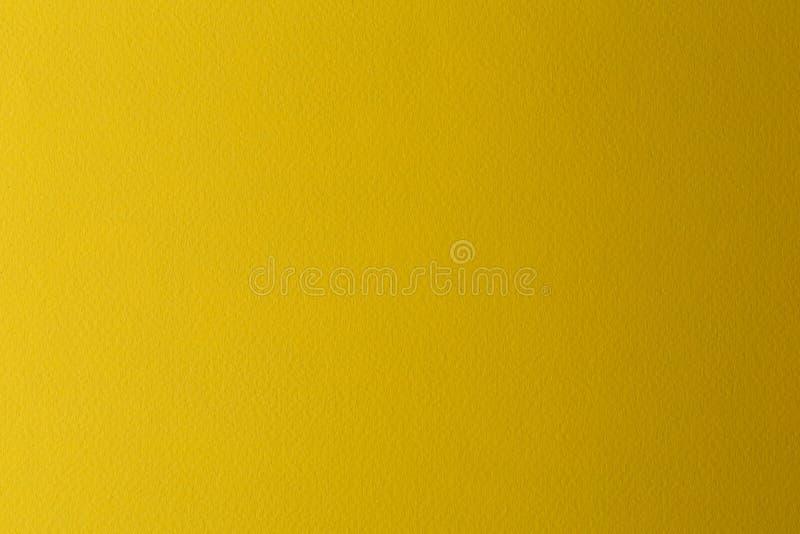Gele waterverfdocument textuur voor achtergrond royalty-vrije stock fotografie