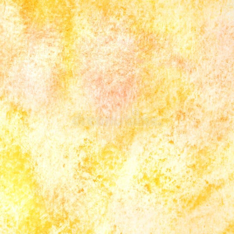 Gele waterverftextuur stock illustratie