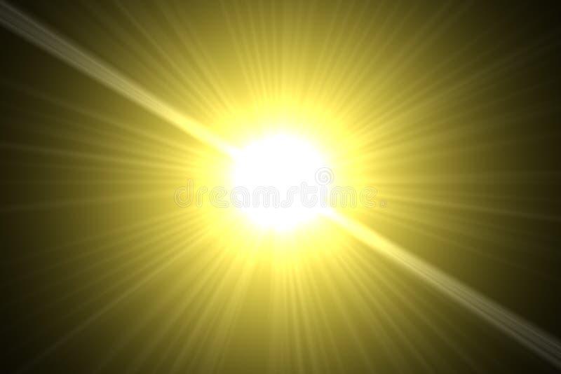 Gele zon royalty-vrije illustratie