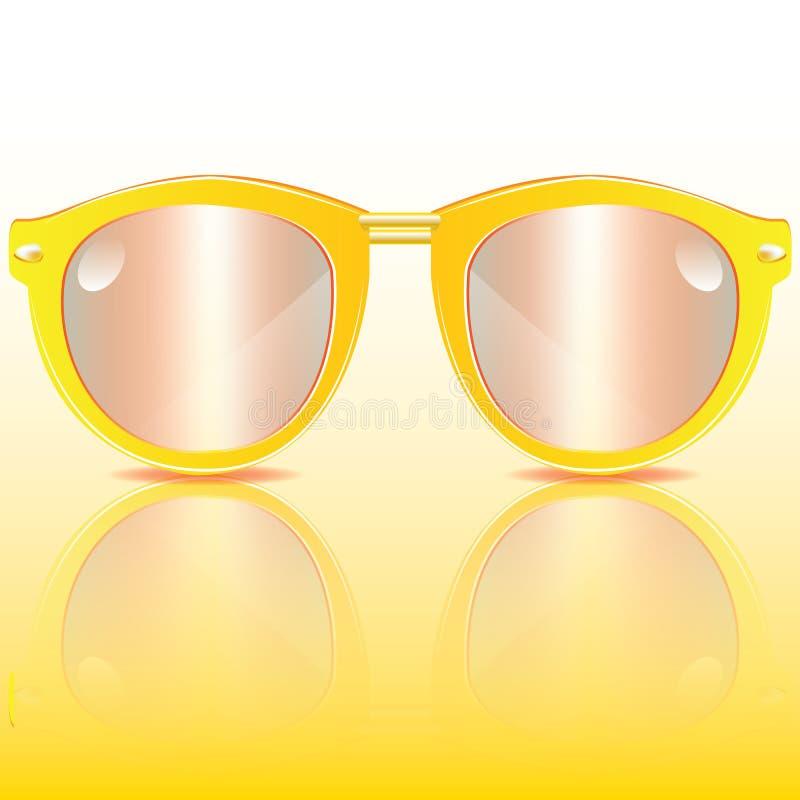 Gele zonnebril royalty-vrije stock foto