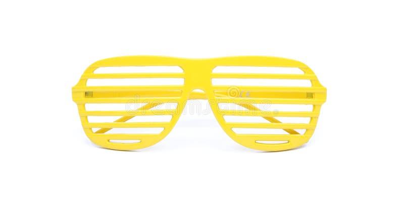 Gele zonnebril royalty-vrije stock fotografie