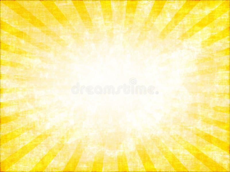 Gele zonnestraal stock illustratie