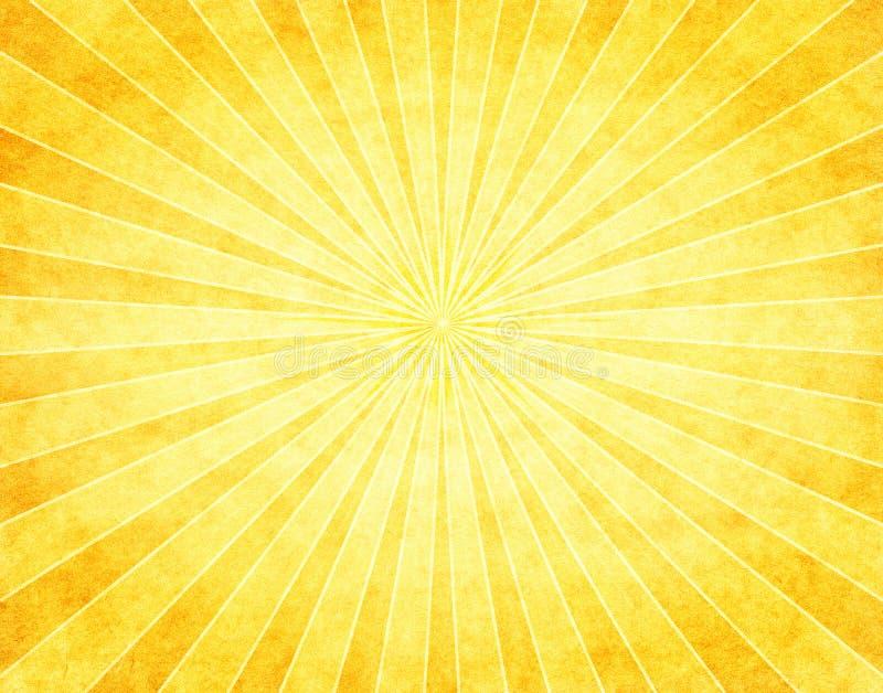 Gele Zonnestraal op papier stock illustratie