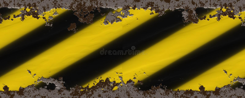 Gele zwarte strepen royalty-vrije illustratie