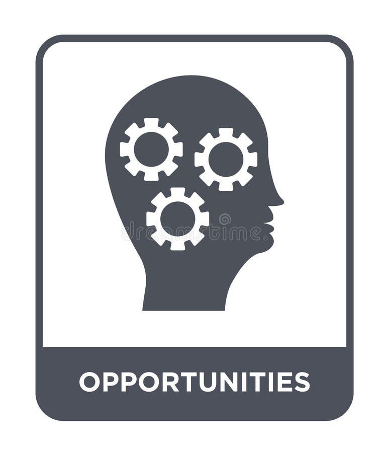 Gelegenheitsikone in der modischen Entwurfsart Gelegenheitsikone lokalisiert auf weißem Hintergrund Gelegenheitsvektorikone einfa stock abbildung