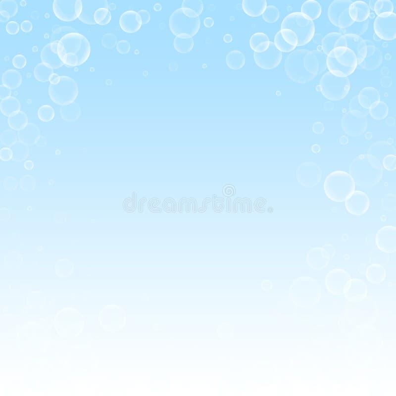 Gelegentlicher Seifenblasen Weihnachtshintergrund Subtiles f vektor abbildung