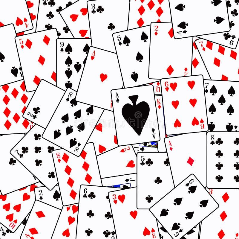 Gelegentlicher Spielkarte-Hintergrund stock abbildung