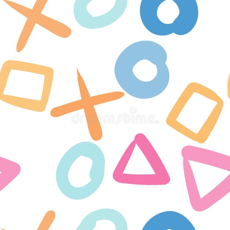 Gelegentliches geometrisches Formmuster entziehen Sie Hintergrund Geometrische einfache Illustration Kreative, Luxusart Drucken S stock abbildung