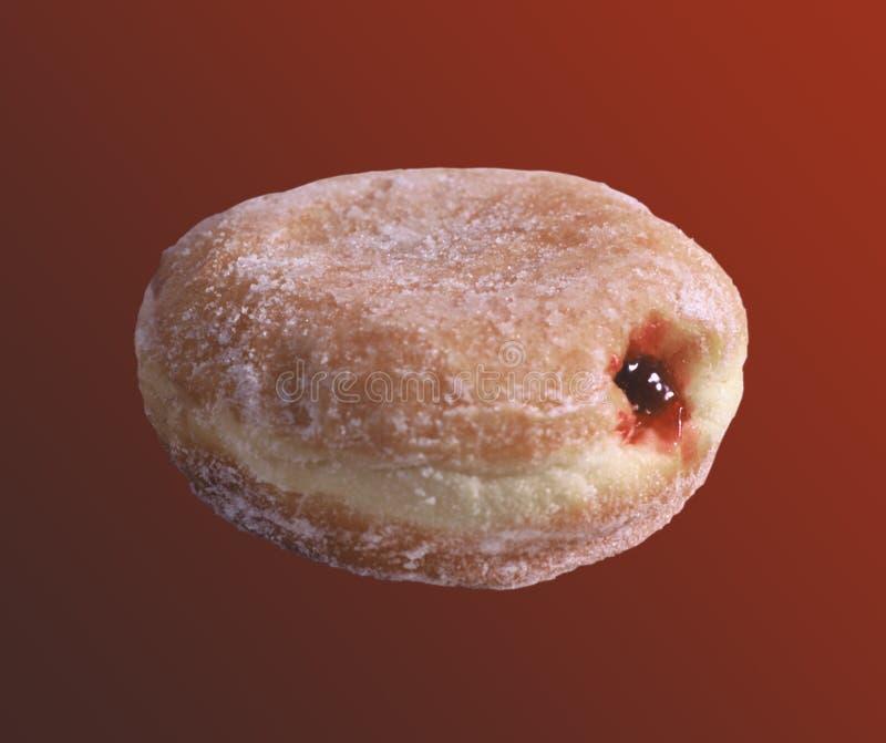 Gelei Gevulde Doughnut Stock Afbeelding