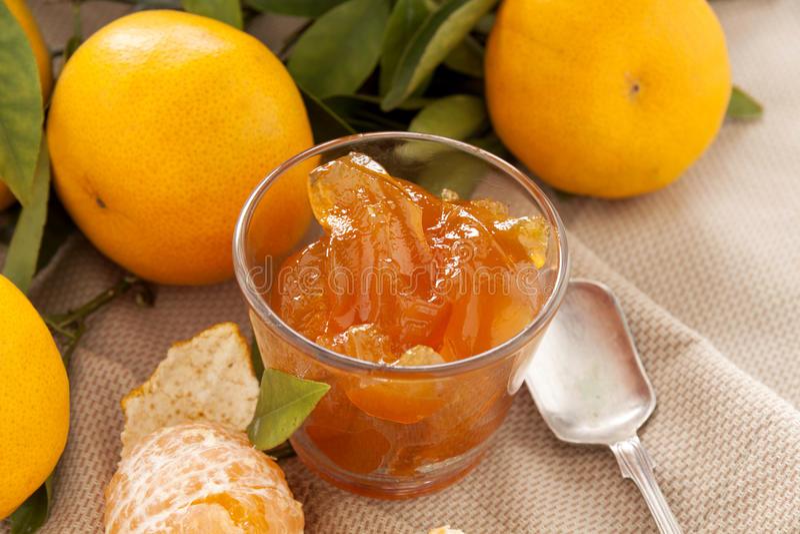 Geleia do mandarino fotografia de stock