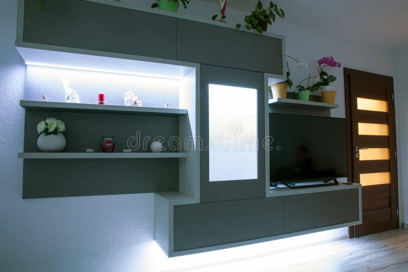 Geleid backlight in meubilair stock fotografie