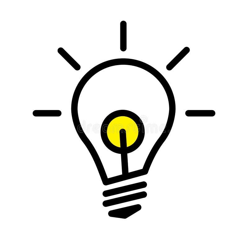Geleide gloeilampenlamp royalty-vrije illustratie