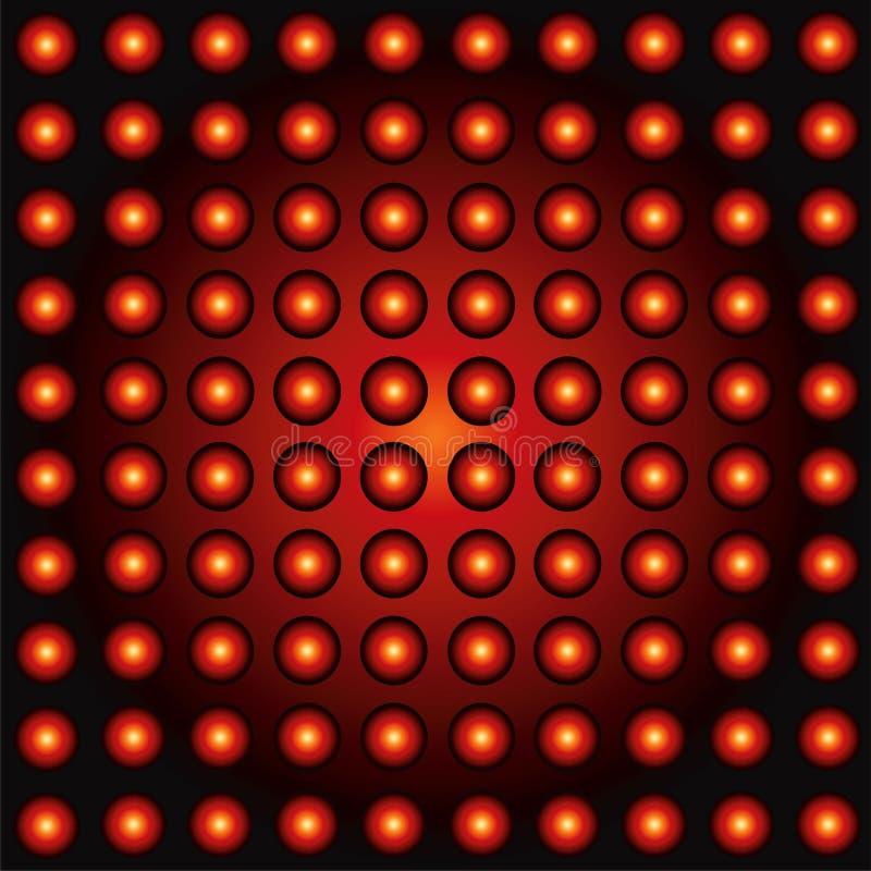 Geleide lichtenachtergrond vector illustratie