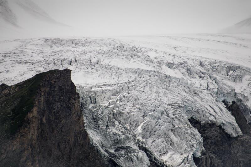 Geleira austríaca de Grossglockner no coração do parque nacional de Hohe Tauern imagens de stock royalty free