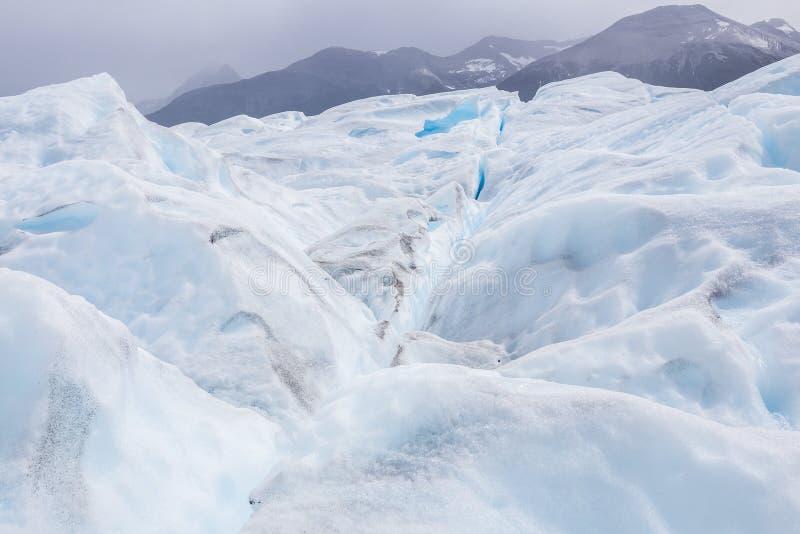Geleira branca e azul bonita de Perito Moreno em Argentina imagens de stock royalty free