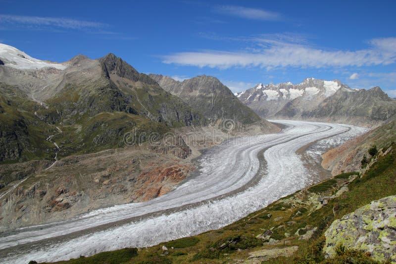 Geleira de Aletsch fotos de stock