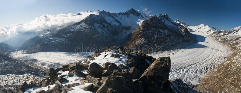 Geleira de Aletsch imagem de stock