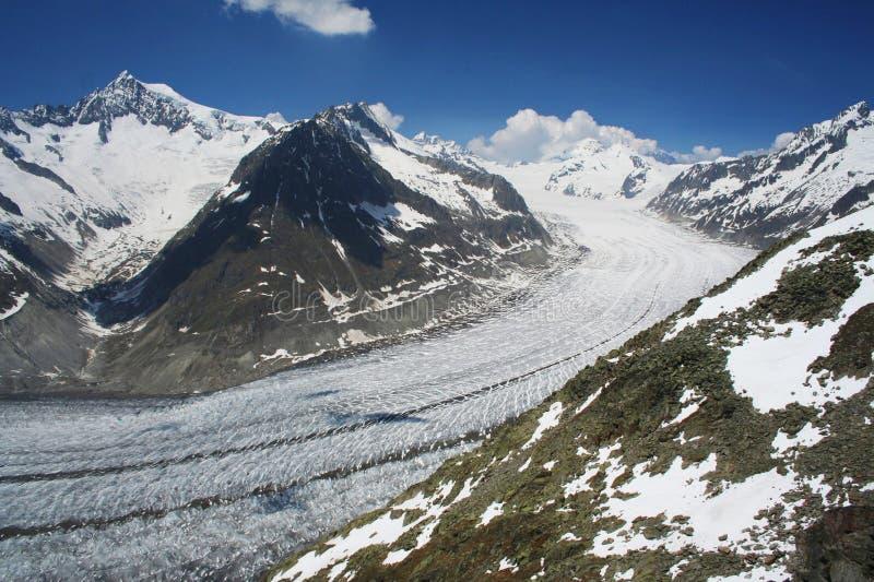 A geleira de Aletsch fotografia de stock