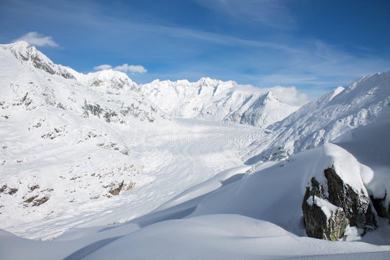 Geleira de Aletsch Gletscher/Aletsch fotos de stock