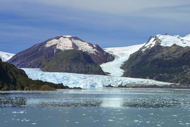 Geleira de Amalia no Chile foto de stock
