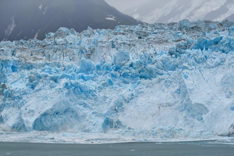 A geleira de Hubbard ao derreter, Alaska imagem de stock