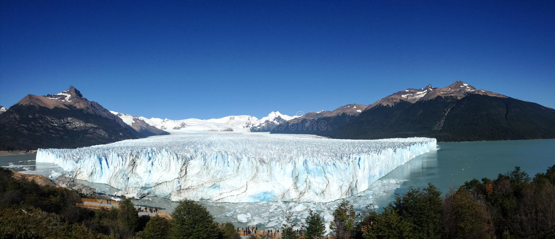 Geleira de Perito Moreno fotografia de stock