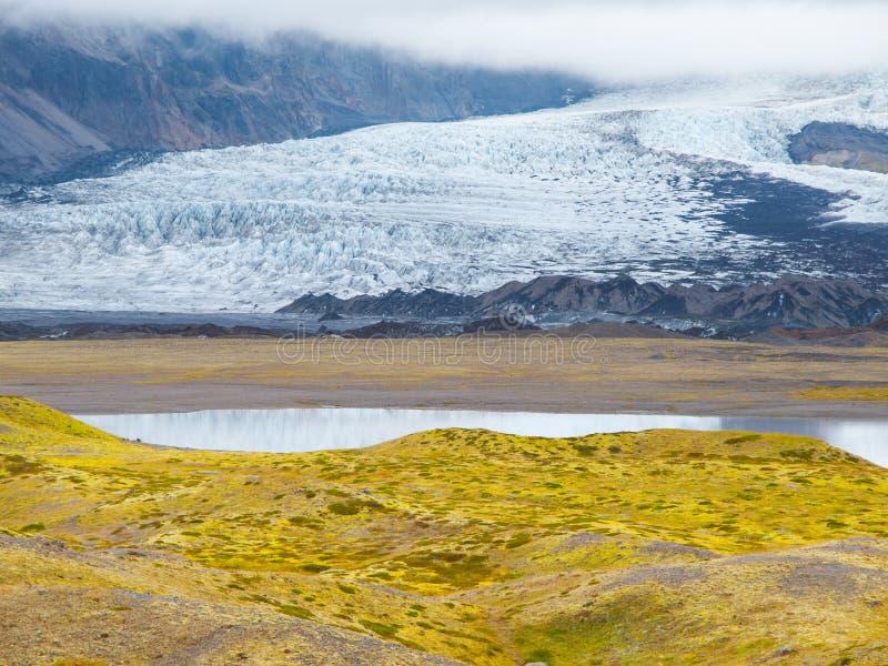 Geleira de Skaftafell fotos de stock