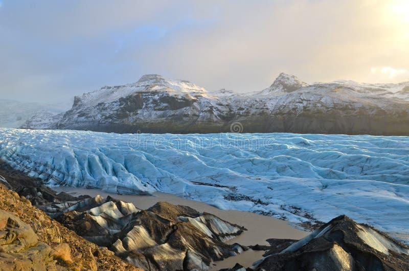 Geleira de Skaftafellsjokull em Islândia, parte do parque nacional de Vatnajokull fotos de stock royalty free